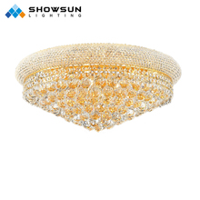 Contemporary Gold Crystal Ceiling Lights for Home