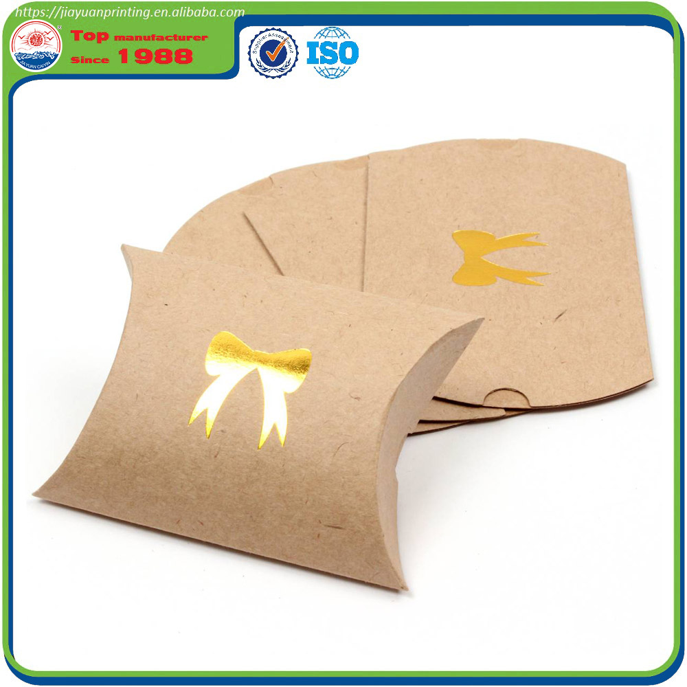 Hot Stamping Kraft Paper Pillow Gift Box
