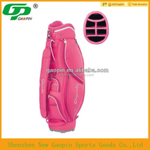 Worldwide china golf manufacture customized high quality pink golf bag