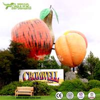 Outdoor Fiberglass Huge Apple Sculpture