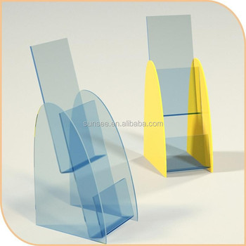 acrylic customized table top brochure holder,/ Acrylic leaflet holder