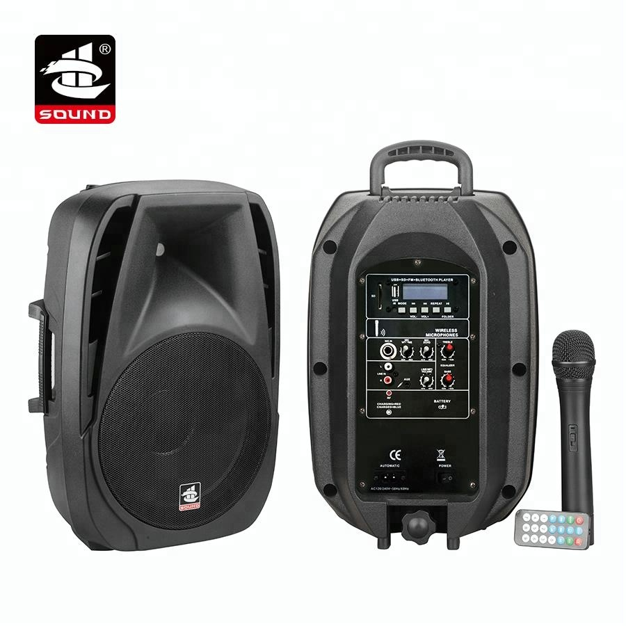 PS-1410BT-IWB <strong>10</strong> inches Outdoor Speaker System Trolley Speaker with BT and USB/SD mp3 player