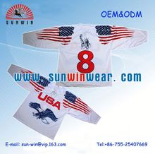 Honey Combed 100% Polyester ice hockey jerseys and equipments