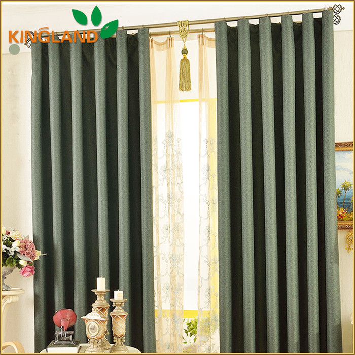 Fashionable Retro Style Blackout Curtain With Valance