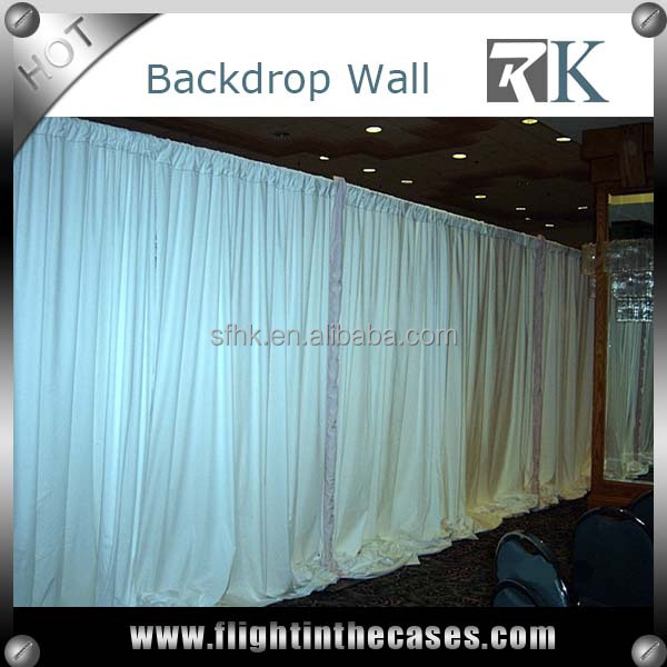 Wedding backdrop pipe drape for sell chuppah ceiling drape fabric