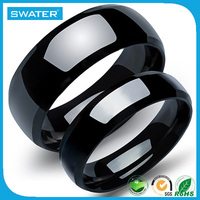 Sale 2016 Men Wedding Design Black Titanium Rings