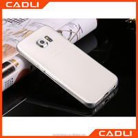 2016 Newest Fashion slim Crystal 0.6mm Ultra Thin Clear Transparent Soft TPU Case for Samsung Galaxy S6 edge back cover
