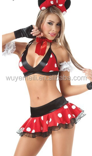 Lingerie wholesale and sexy Mickey Christmas lingerie in Europe and America