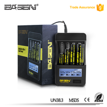 Basen BS4 universal fast large on board charger for li-ion batteries basen micro usb 18650 battery charger with 4 slots