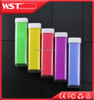 2016 hot sale products lipstick 2600mah 2200mah charge smartphone portable power bank China supplier