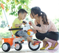 Wholesale Cozy 3 Wheel Plastic Kids Push Along Trike For Two Year Old