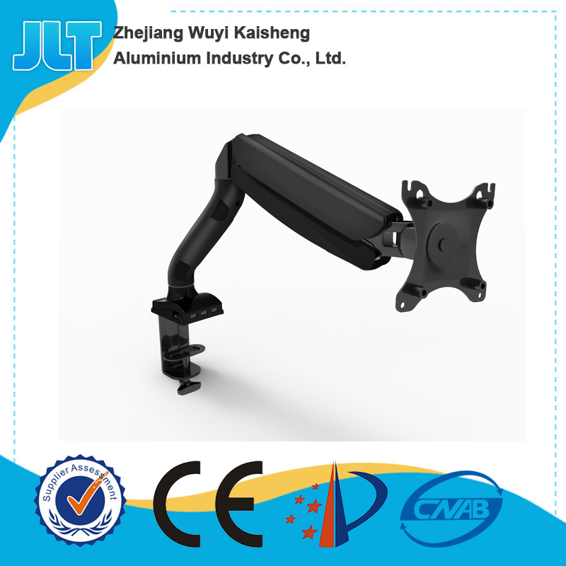 LCD Monitor Desktop Mount arm Stand with Gas Spring for 1 Screen up to 27""