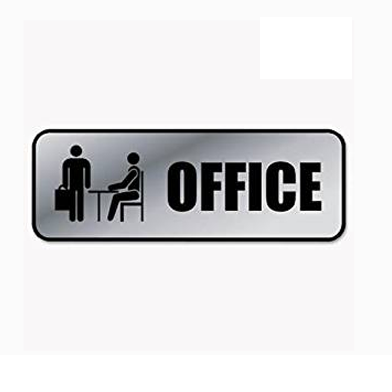 wholesale Size custom office hanging metal sign board or acrylic signs