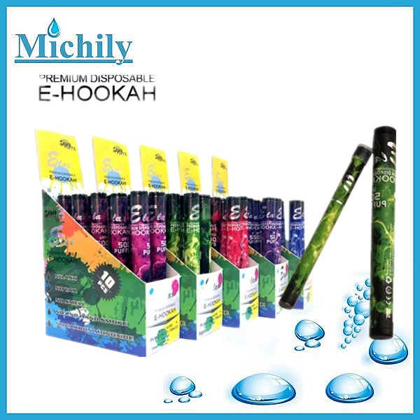 Big vapor hookah e shisha pen 500 puffs disposable electronic cigarette wholesale