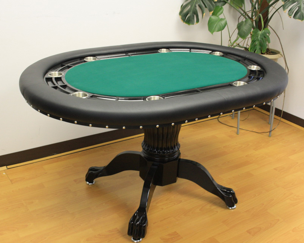 60 Inch Round Poker Table with Poker Chip Slots