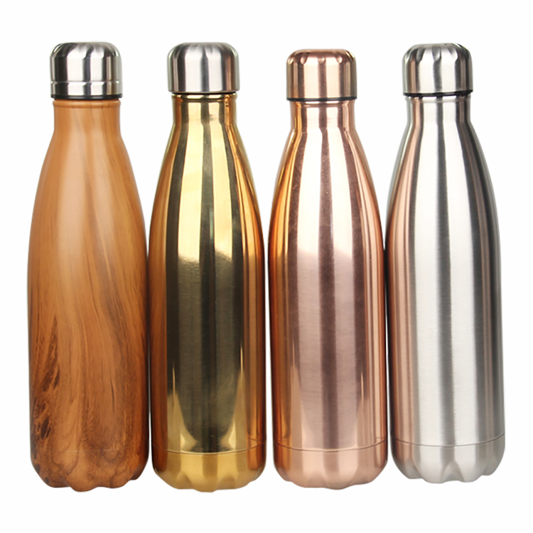 Hot sale alibaba 500ml double wall 18/8 stainless steel bowling shape vacuum sports water bottle