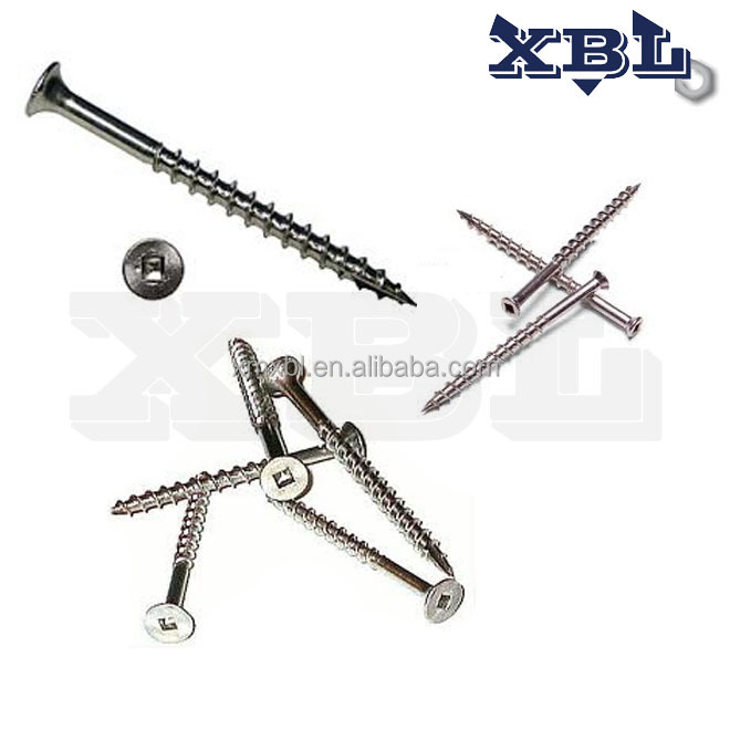 Stainless Steel Square Drive Countersunk Head decking self tapping <strong>Screws</strong>