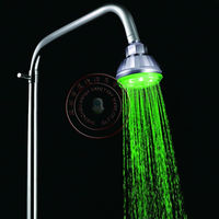 83mm*90mm lighting color Green LED Top Shower Heads with single green color