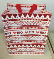 promotional bag logo printed cheap custom pp woven shopping tote