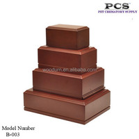 MDF wooden high quality pet cremation urn