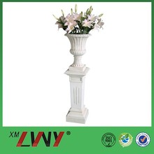 Quality resin shallow lacy high leg flower pots for sale