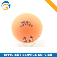 PU Foam Stress Ball Round with Smile Face
