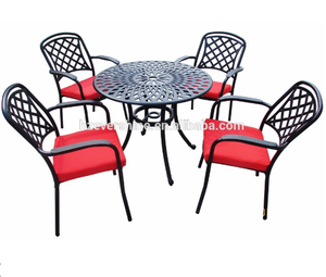 Outdoor Stackable Garden Set with Aluminum Frame Chair and Table