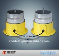 Solar powered LED double/twin aviation obstruction light/aircraft warning light