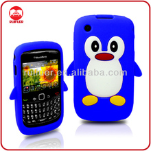 Cute Penguin 3D Animal Soft Silicon Skin Case for Blackberry 9300