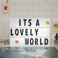 A4 Size Free Combination Cinematic Light Box Cinema Light Box DIY LED Letter Lamp for Home Decor Birthday Party
