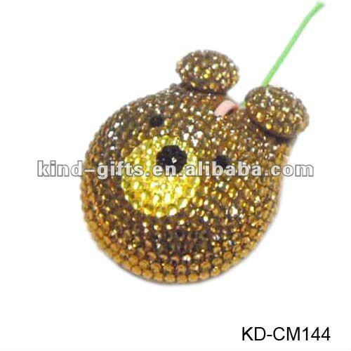 novelty crystal rhinestone computer mouse