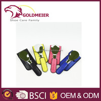 Color shoe horn fold shoe horn with leather cover shoe horns factory sale