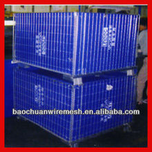 galvanized cart steel cages with wheels