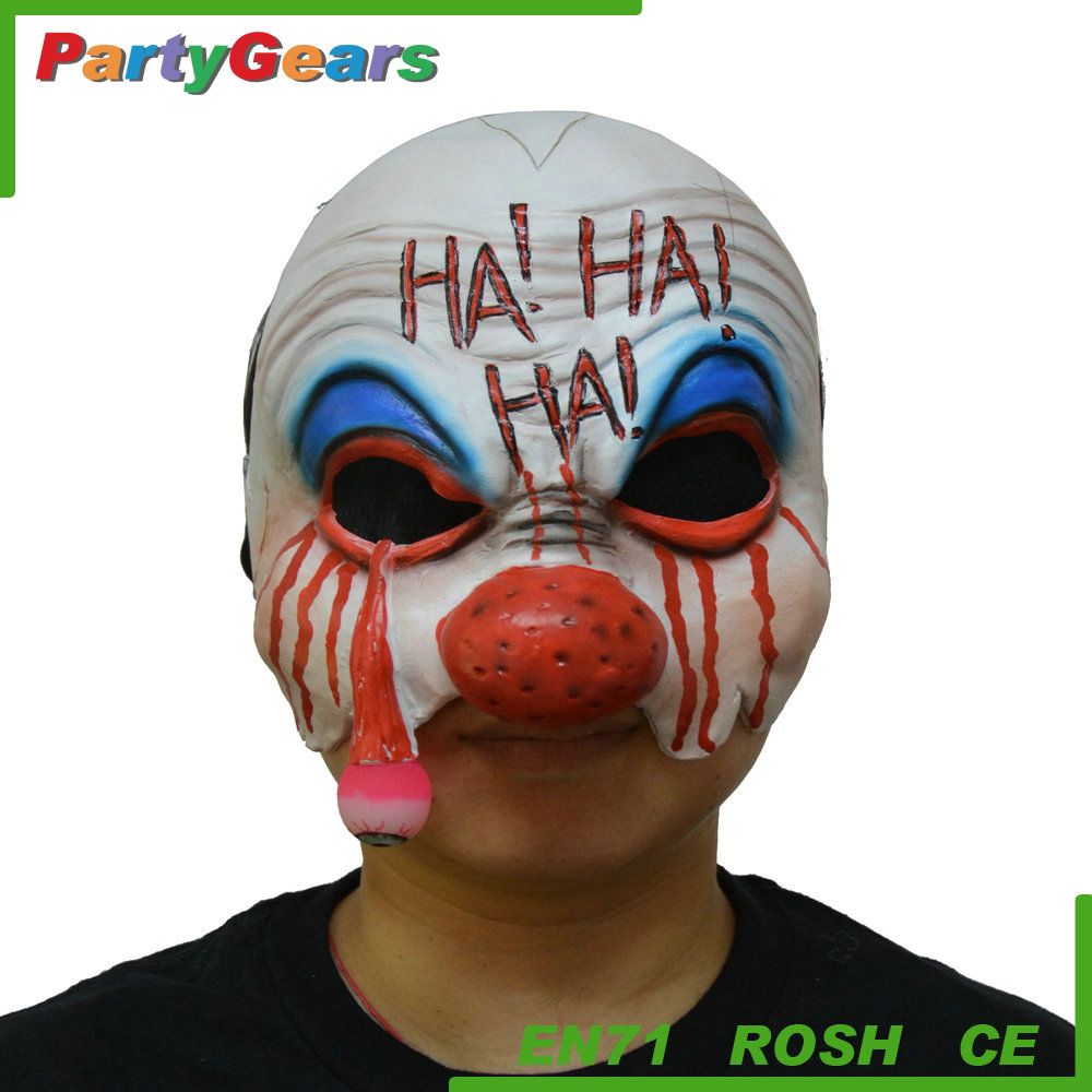 Latex Rubber Clown Halloween Party Club Design of Party Face Mask for Kids & Adults