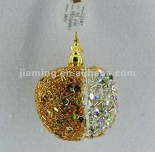 gold decoration beads apple tree ornament