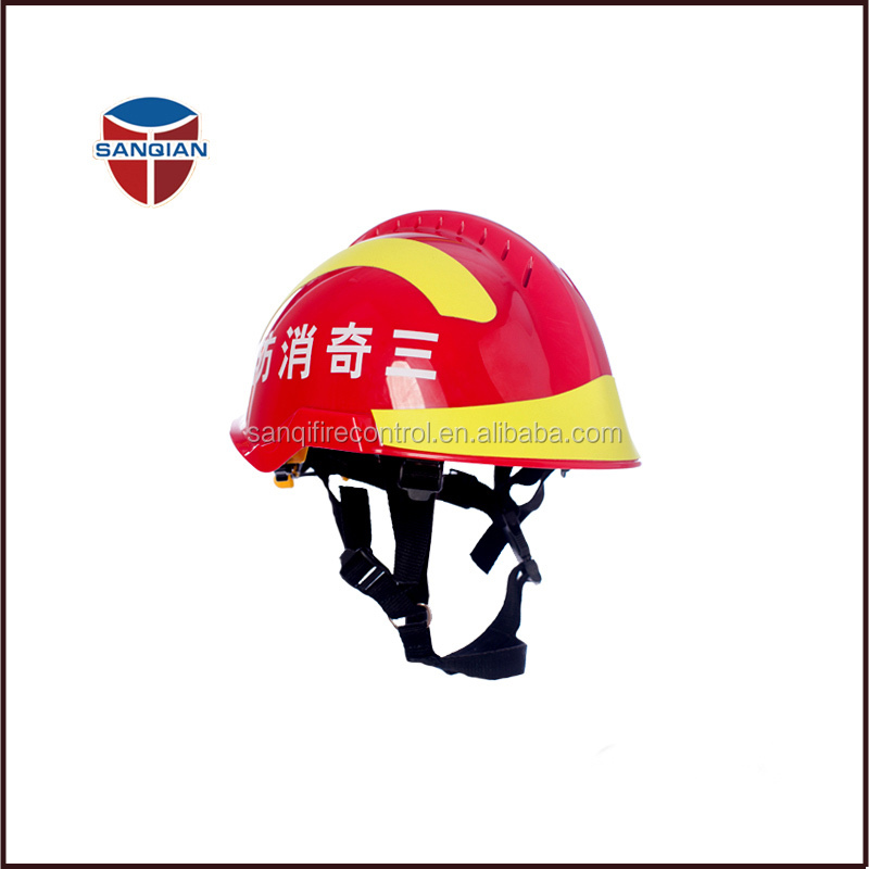 Red F2 fireman helmet for rescuing work