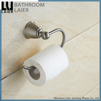Contemporary Factory Supplier Zinc Alloy Brush Nicked Bathroom Sanitary Items Wall Mounted Toilet Paper Holder