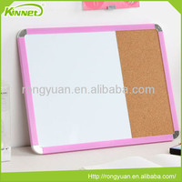 office and school supplies Pink plastic framed Soft needle pin combo magnetic white board