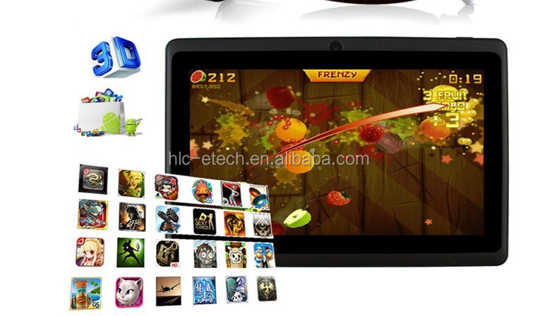low radiation 7 inch tablet pc with FIFI ,TF card maximum 32GB andoird 5.1 HD screen 1024*600