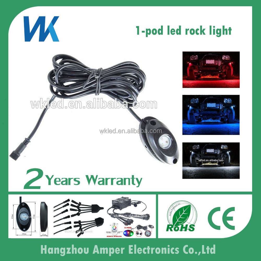 New launched 4X4 offroad 1-pod dc9-32v multi-color side maker lamp underbody led rock light