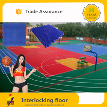 100% new pp plastic raw material outdoor rubber size covering mat widely used basketball courts for sale
