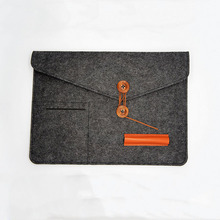 "Waterproof portable envelope style 13"" gray felt laptop sleeve case bag for 13 inch notbook tablet pc"