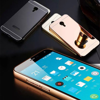 Metal Frame Mirror Back Cell Phone Case Cover For Meizu M2 Note