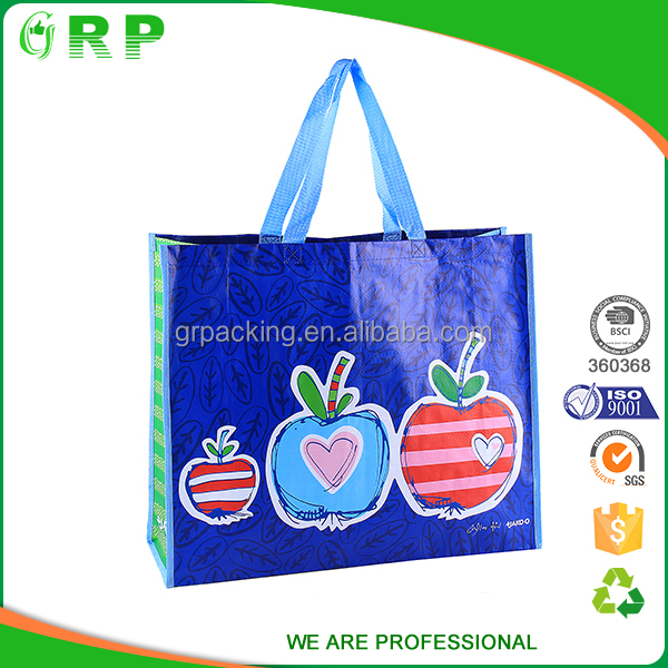 Large capacity eco friendly reusable polyester bags for shopping