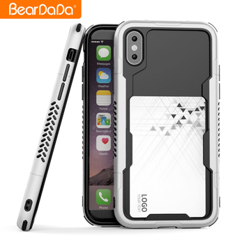 New Style for iphone x 8 7 6 plus border protective frame bumper mobile phone case
