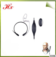 Hands free walkie talkie Throat Mic Headset with high gain antenna for Motorola gp338