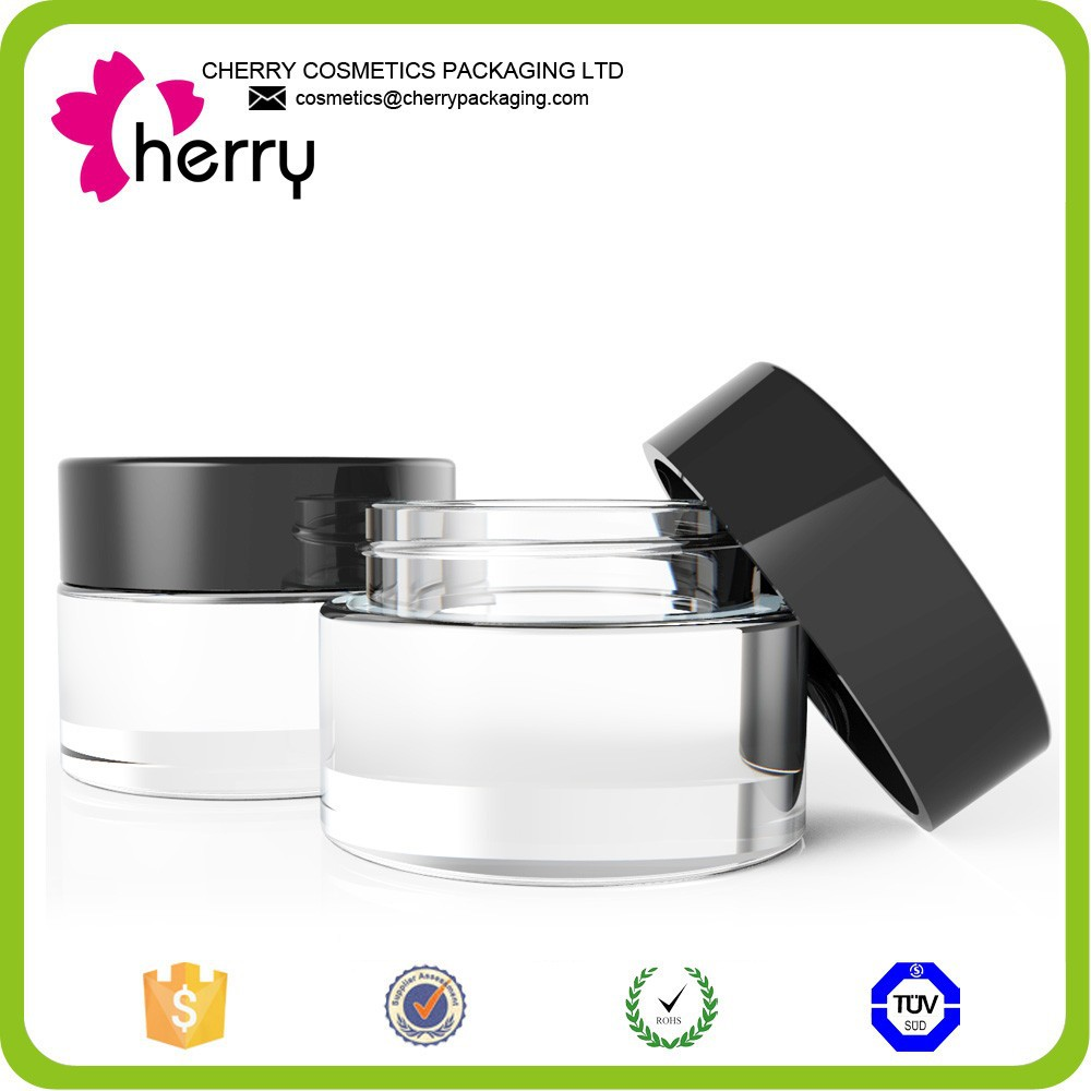 wholesale cosemtic elegant glass jar for makeup or food