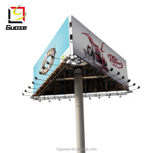 Outdoor tri-vision advertising billboard highway steel structure signage led spotlight sign