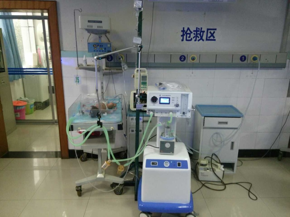 NLF-200A Non-invasive ventilators Auto CPAP with mask with nasal 30KG hospital control valve neonatal ventilator Neonate CPAP