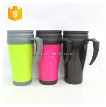 Plastic M&M Travel Coffee Mug